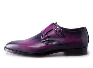 Scuro Viola Hand-Finished Veneto Monk Shoes